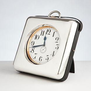 Impressive Giant Silver Goliath Clock, circa 1910-1915