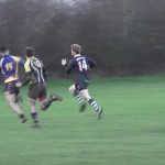 David Cooke scores Minety's 4th try
