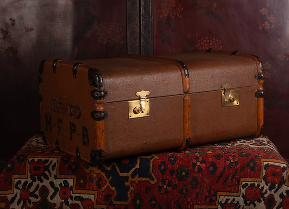 Large Late Victorian Steamer Trunk
