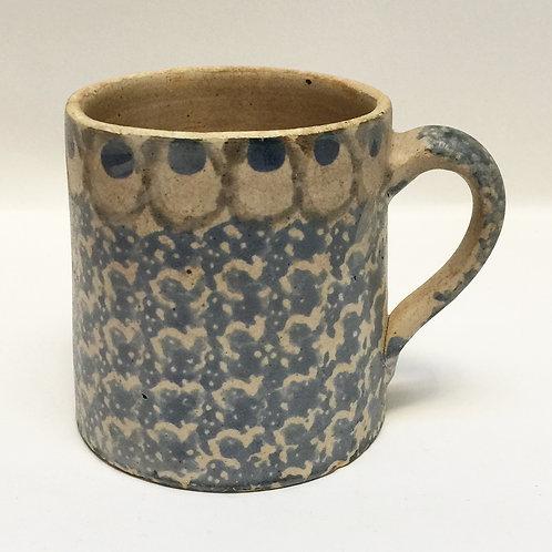 Continental Spongeware Hand Thrown Mug