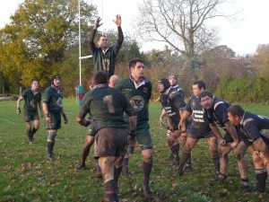 Attacking lineout for Minety