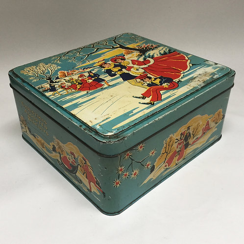 Vintage 'Christmas Assorted Biscuits' Gift Tin