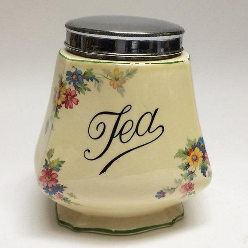 Pretty 1930's Tea Caddy