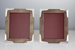 Pair of Large Mid-20th Century Shagreen Photo Frames, circa 1960