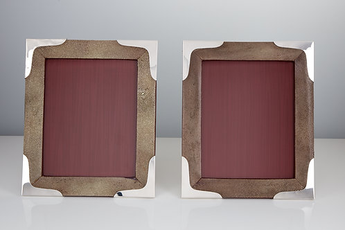 Pair of Large Mid-20th Century Shagreen Photo Frames, circa 1960