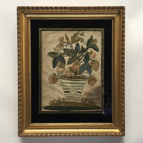 Gilt Framed 18th Century Needlework