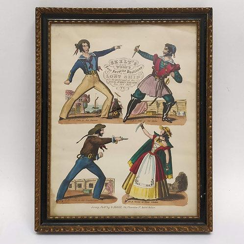 19th Century Hand Coloured Print