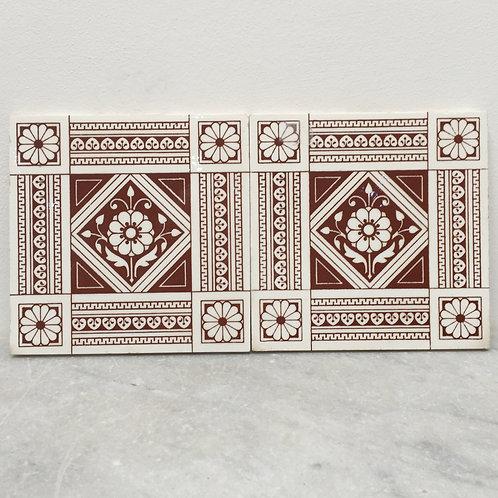 Pair Of Mintons Tiles