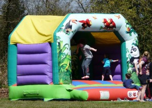 Bouncy castle at Minety 7s