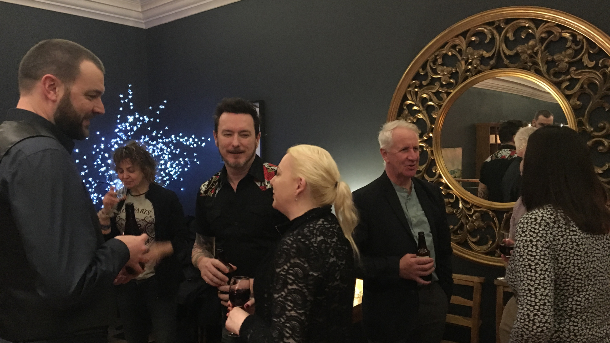 Robert S Malan (Luna Senior Editor and writer), Steph Bianchini (Editor, The Earthian Hivemind), Del and Kim Lakin-Smith (Writer), Peter Garrett (Writer).
