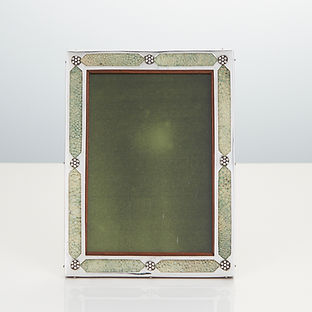 Rare 20th Century Art Nouveau, Sterling Silver and Shagreen Photograph Frame