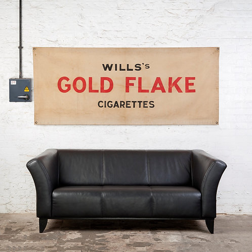 WILLS'S GOLD FLAKE CIGARETTES ADVERTISING BANNER