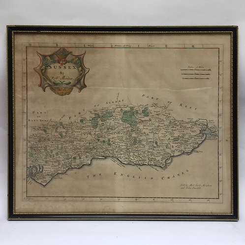 A Map Of Sussex C1700