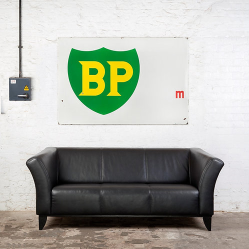 IMPRESSIVELY LARGE BP HIGHWAY MARKER ENAMEL SIGN