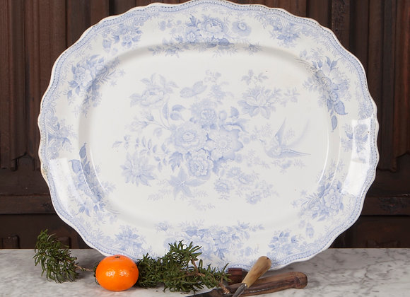 A Victorian Blue and White Serving Plate/Platter