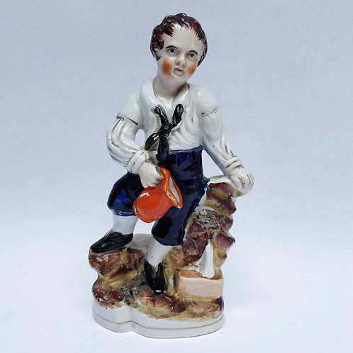 19th Century Staffordshire Pottery Boy