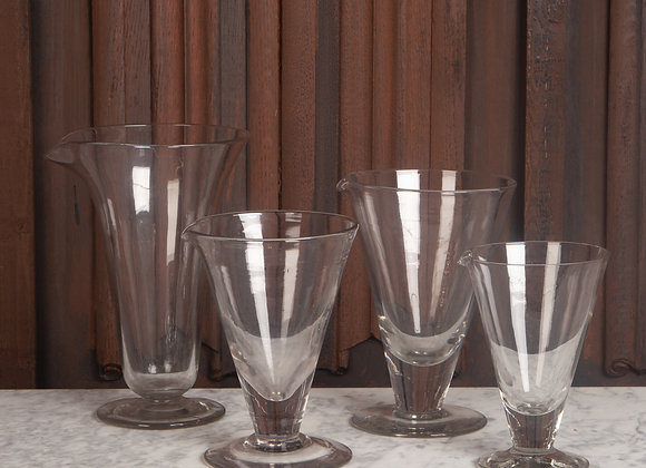 Set of 4 victorian Conical-Shaped Measuring Jars