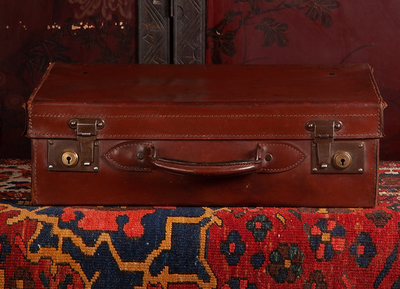 Early 20th Century Leather Suitcase