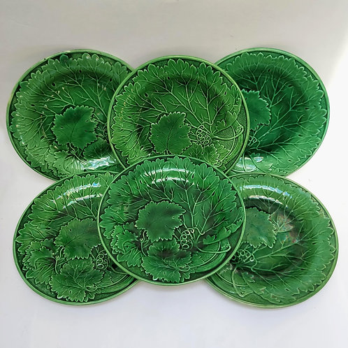 A Set Of Six Majolica Plates