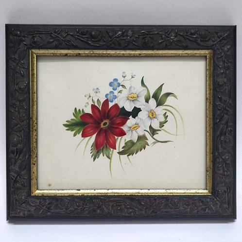Early C19th Floral Watercolour