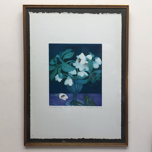 'Chrsitmas Rose' Etching By Winifred Pickard