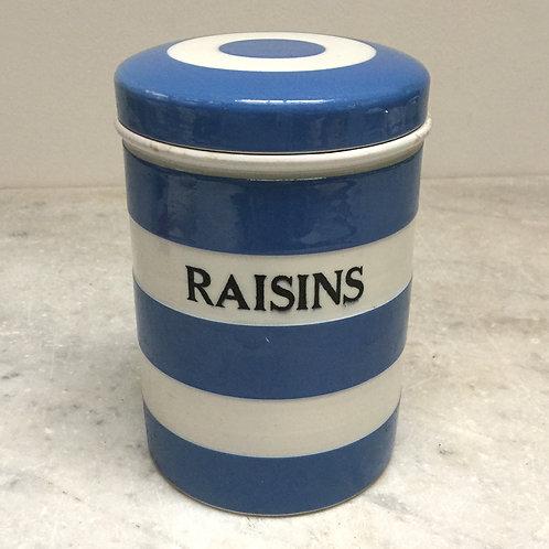 T.G. Green Cornishware Raisins Jar