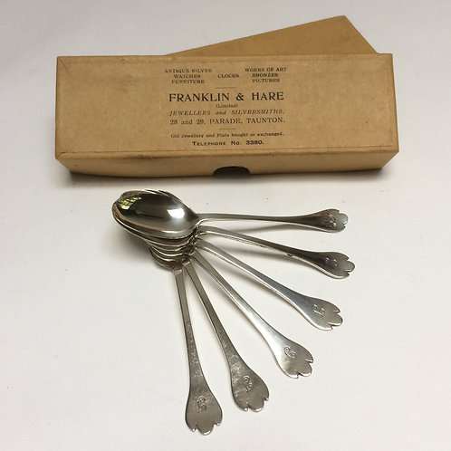 Set of Six Sheffield Silver Spoons