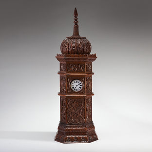 Large Indian Carved Tower Watch Holder, Shimla, 1895