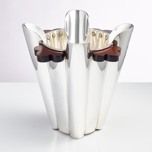 20th Century Art Deco Silver Plated Champagne Cooler, Italian, circa 1930