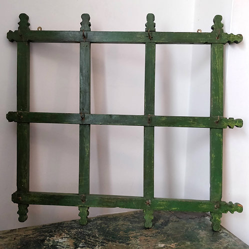 Green Wooden Kitchen Rack
