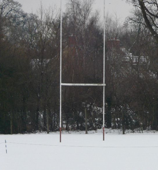 Minety rugby pitch in winter 2007