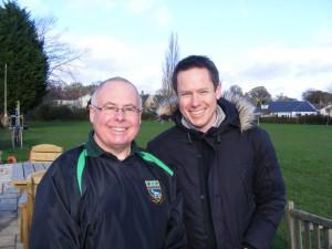 Cliff and BBC's Alisdair Durden
