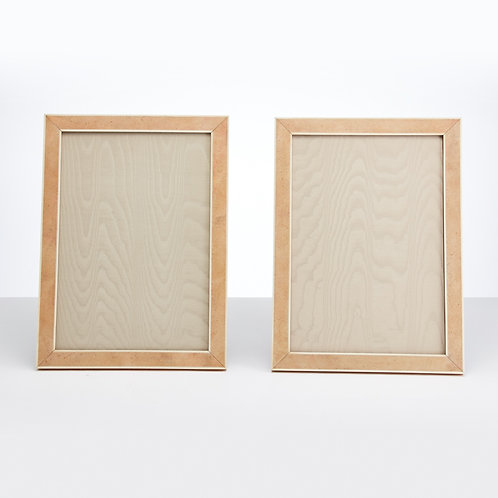 Pair of Large Art Deco, 20th century shagreen picture frames, 1930
