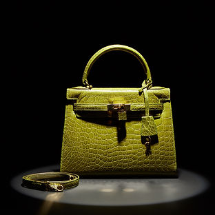 Lime Green Kelly Bag with Lock