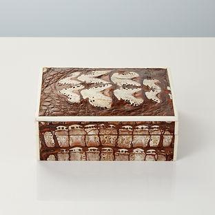 20th Century Art Deco Crocodile Box with Fossilised Surface