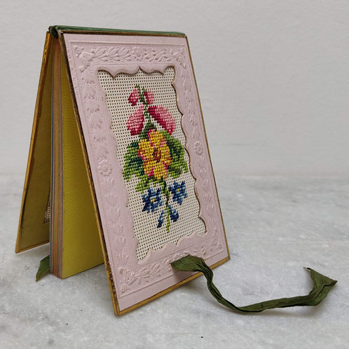 Pretty 19th Century Embroidered Notebook