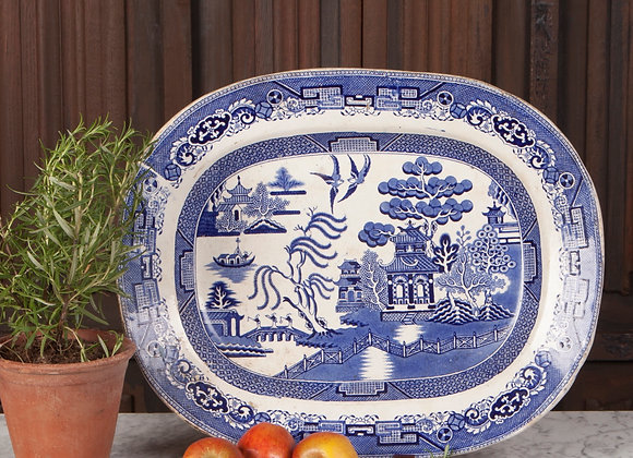 A Late Victorian Blue and White Serving Plate/Platter
