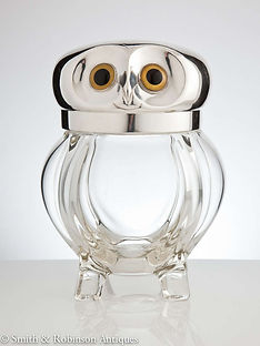 Novelty Ice Bucket in the Form of an Owl, English, circa 1910-1915