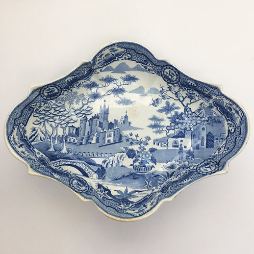 Early 19th Century Blue And White Comport