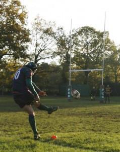 Goal kick by Jack Ward