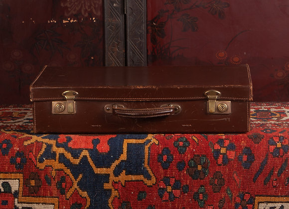 Small Early 20th Century Leather Suitcase