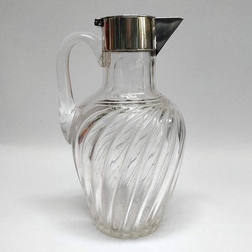 1889 Silver Mounted Cut Glass Claret Jug