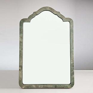 Elegant Shagreen French Art Deco Table Mirror, circa 1930
