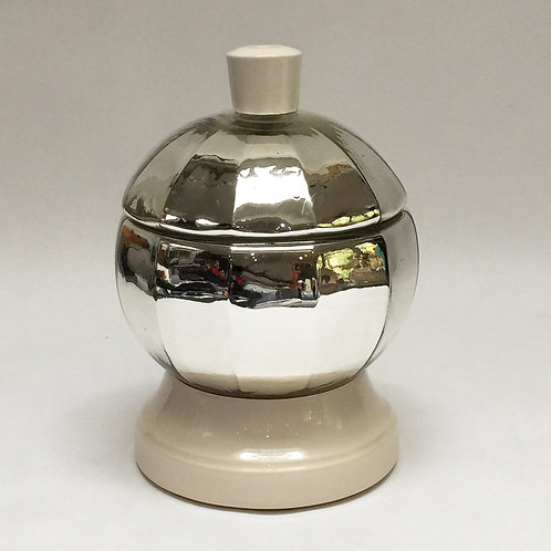 Wonderful Mercury Glass Caviar Pot