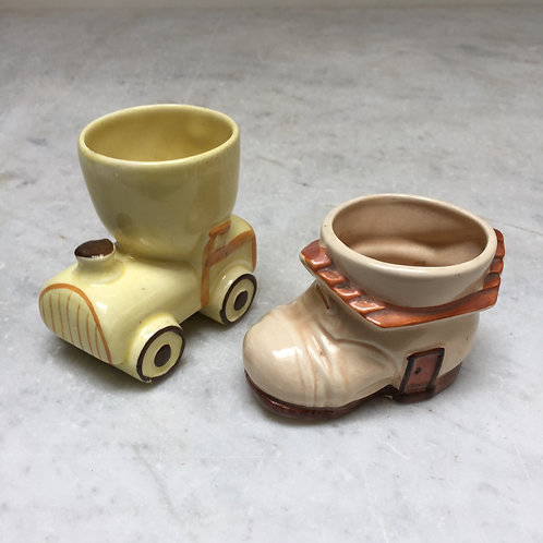 Train And Boot Egg Cups