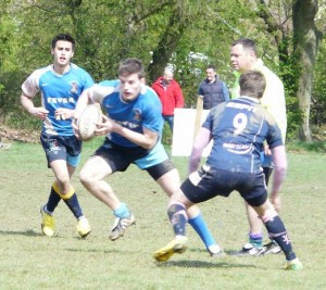 Action from Saturday's Minety Sevens tournament