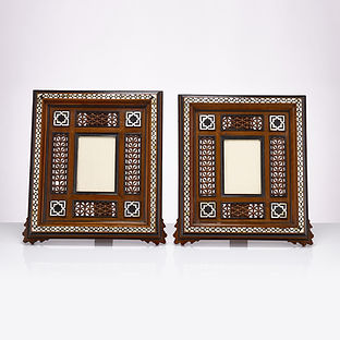 Pair of Egyptian 20th Century Middle Eastern Moorish Photo Frames, circa 1910