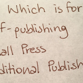 Publishing Routes: Small Press?
