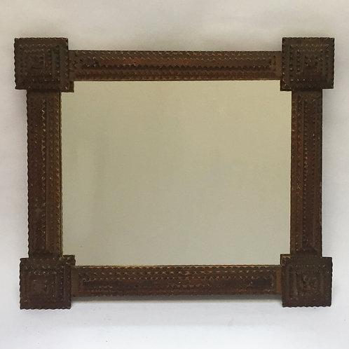 Rectangular Tramp Art Mirror