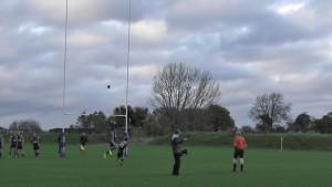 Garin kicks a penalty